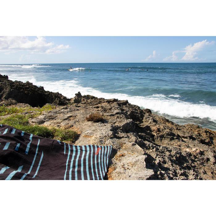ToallaPlaya Surf Olaian Verde Negro Estampado Algodón Grande