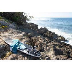 Toalla Playa Surf Olaian Verde Estampado Algodón Grande