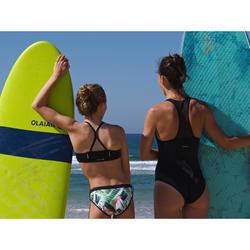 Bikini met high neck top met gekruiste bandjes voor surfen Baha Tiare