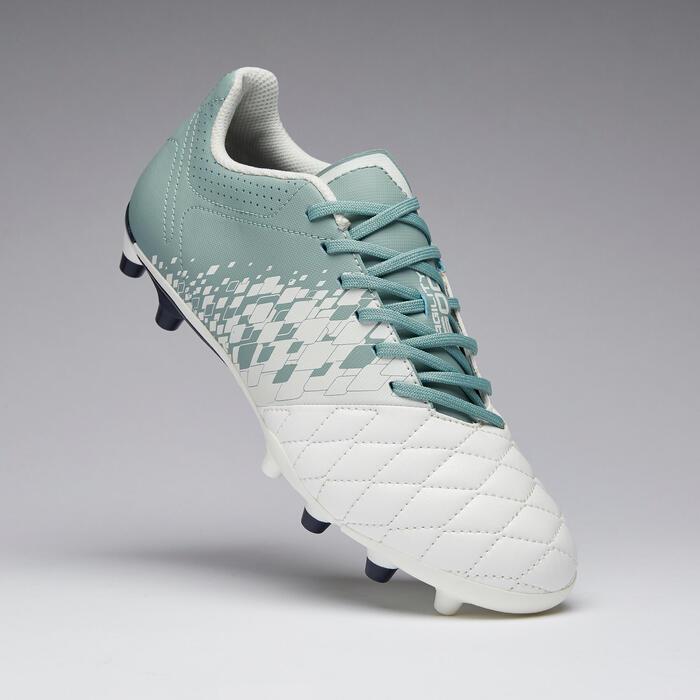 Voetbalschoenen voor dames Agility 500 FG droog terrein wit