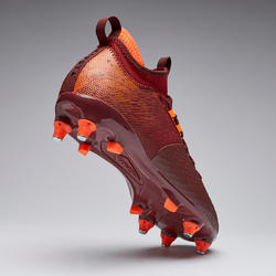 Adult Soft Ground Football Boots Agility 900 Mesh MiD - Burgundy