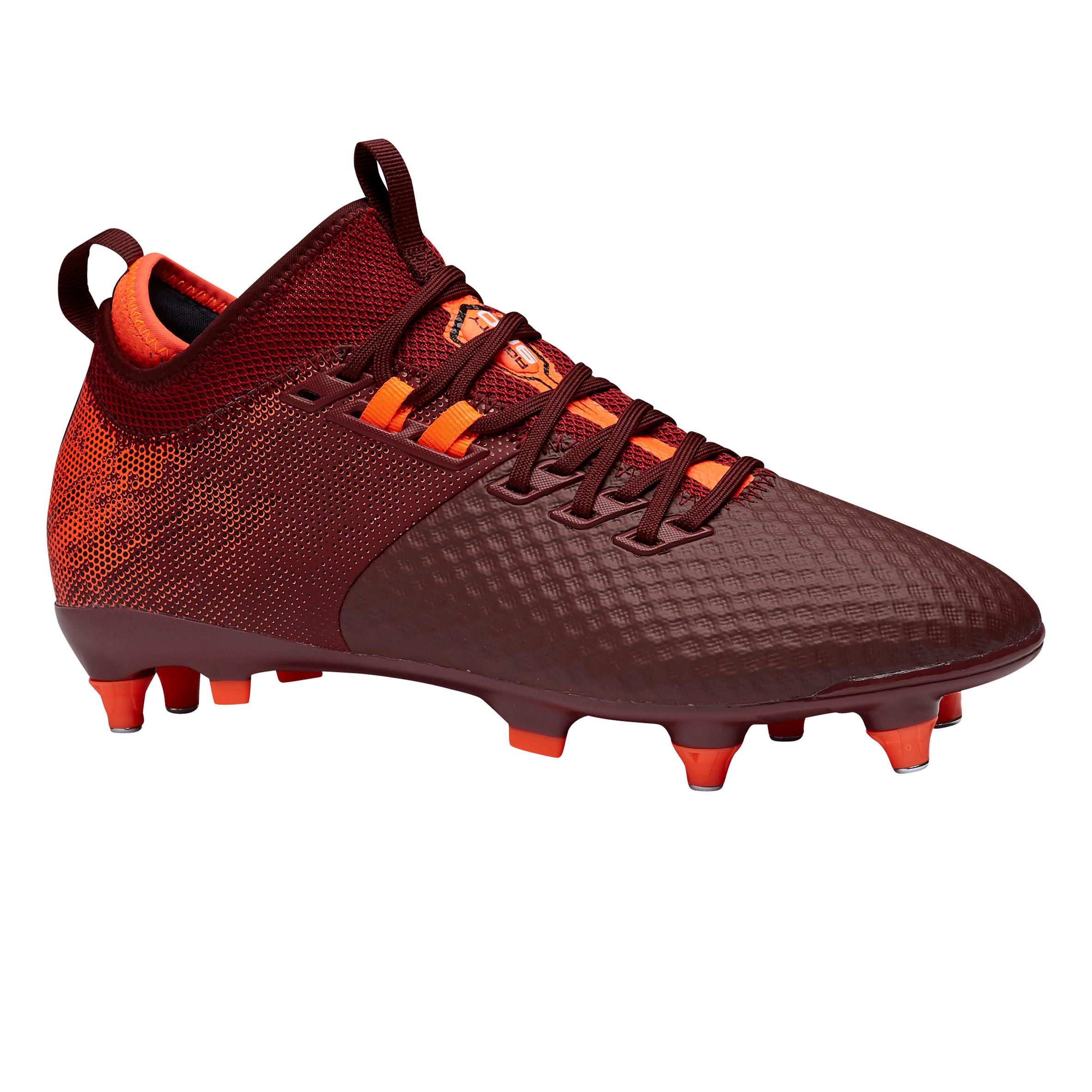 Fußballschuhe Stollen Agility 900 Mesh Mid SG Erwachsene bordeaux | Schuhe > Sportschuhe > Fußballschuhe | Kipsta