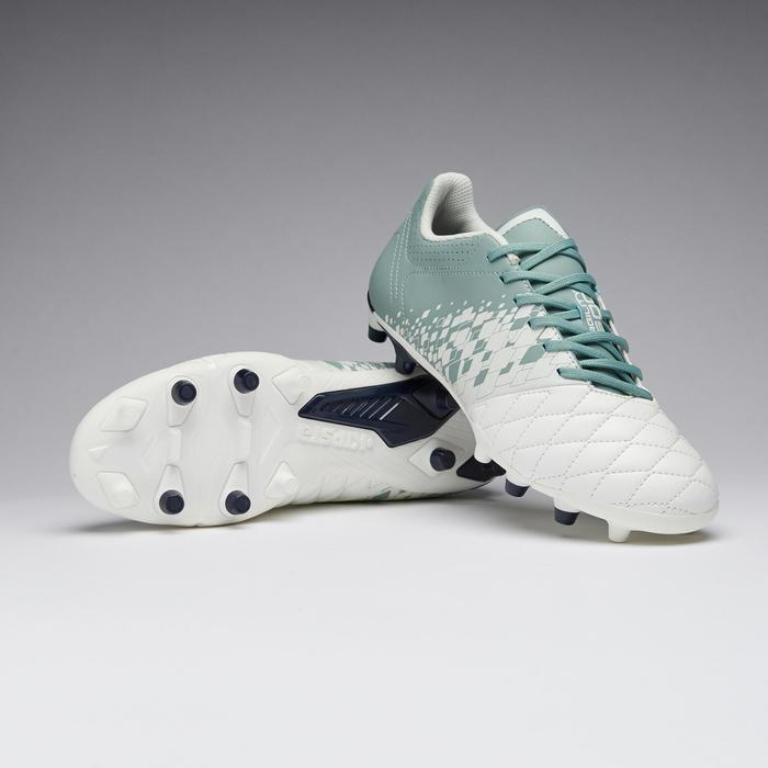 Botas de fútbol mujer terrenos secos Agility 500 FG blanco