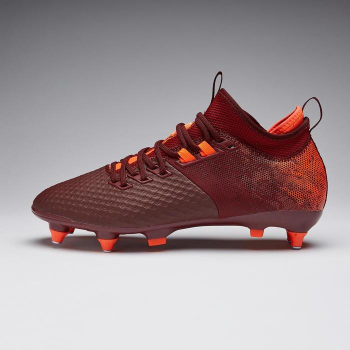 Chaussure de football adulte terrain gras Agility 900 Mesh MiD SG bordeaux