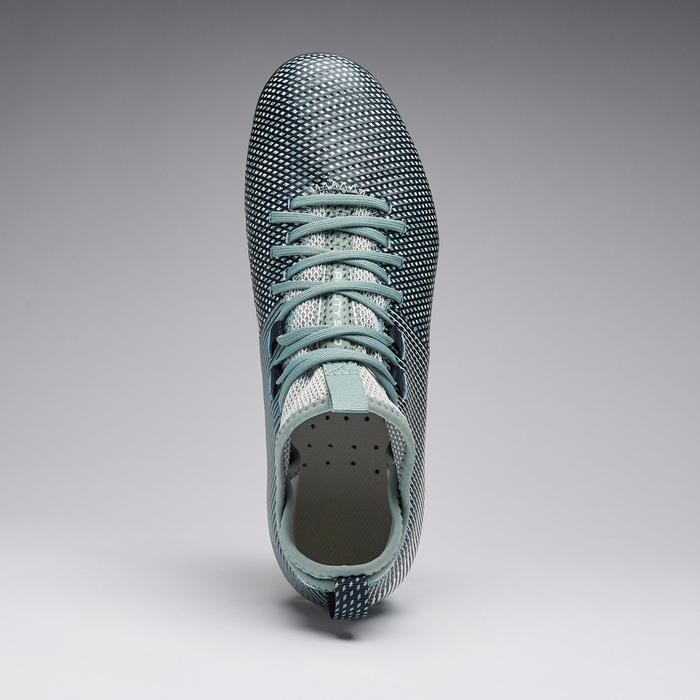 Botas de Fútbol Kipsta Agility 900 FG Mid mujer azul y verde