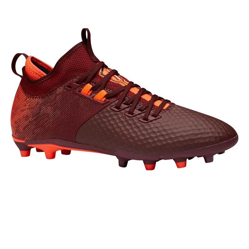 Adult Firm Ground Football Boots Agility 900 Mesh MiD - Burgundy