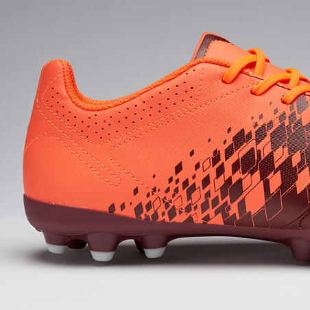 Agility 500 MG Adult Dry Pitch Football Boots - Burgundy/Orange