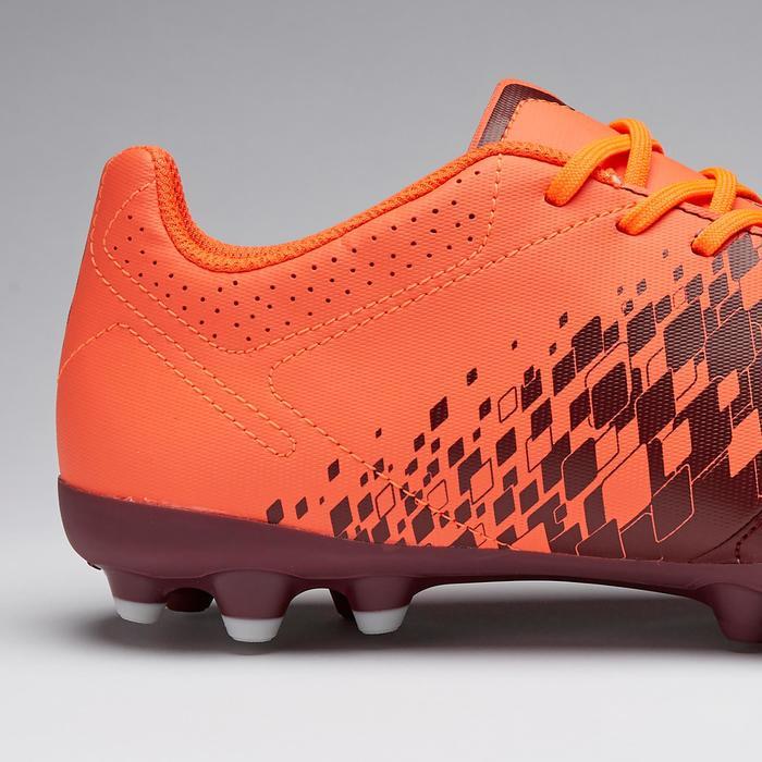 Chaussure de football adulte terrains secs Agility 500 MG bordeaux & orange