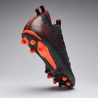 Chaussure de soccer adulte terrains secs Agilité 900 mi-haute FG noire