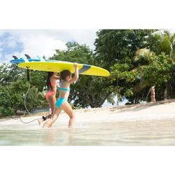Meisjesbikini met topje zonder sluiting Bali blauw