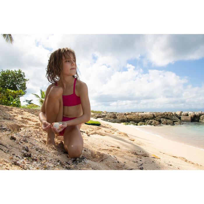 Meisjesbikini met topje zonder sluiting Bali roze