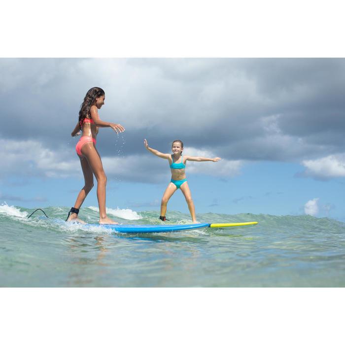 CULOTTE ET HAUT DE MAILLOT DE BAIN SURF FILLETTE BRASSIERE ROSE BALI 100