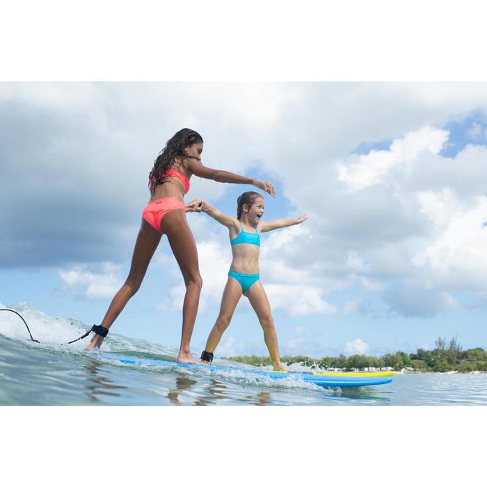 Meisjesbikini met topje zonder sluiting Bali granatina