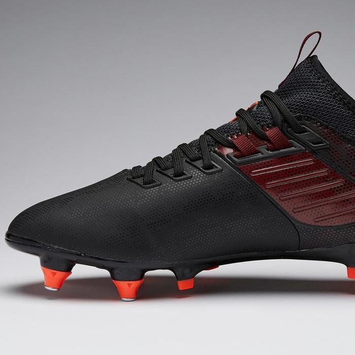 Voetbalschoenen voor volwassenen Agility 900 MiD SG drassig terrein zwart/bdx