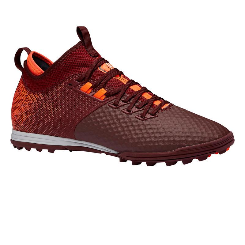 Chaussure de football adulte terrains secs Agility 900 Mesh MiD TF rouge orange
