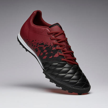 Adult Firm Pitch Football Boots Agility 500 TF - Black/Burgundy