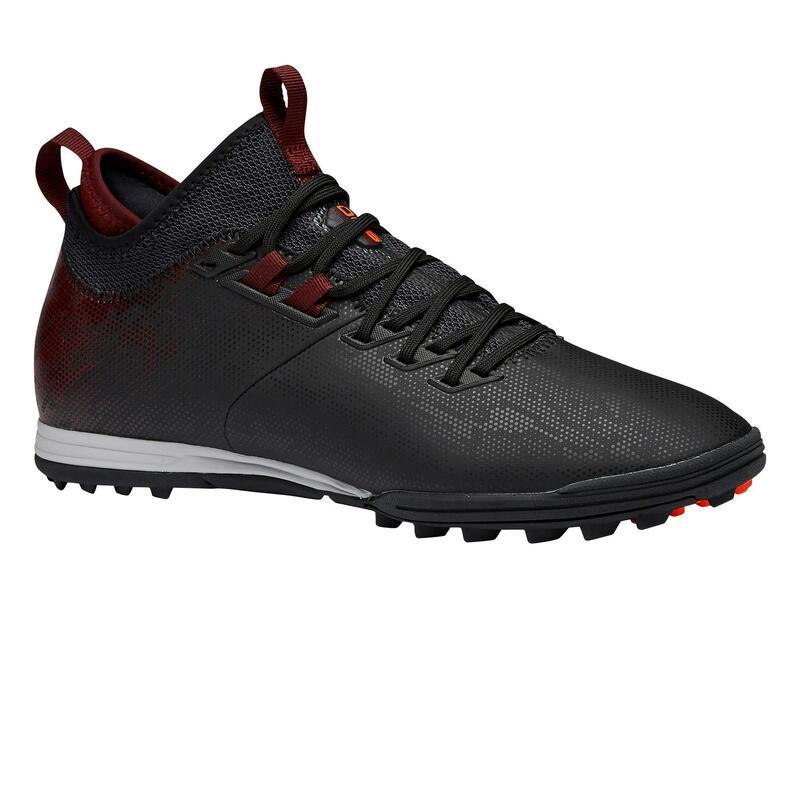 Chaussure de football adulte terrain dur Agility 900 TF noire bordeaux