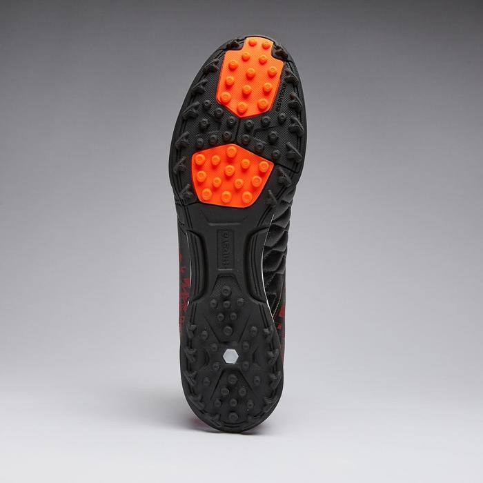 Chaussure de football adulte terrain dur Agility 500 HG noire bordeaux