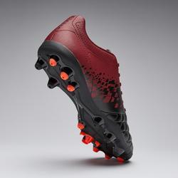 Chaussure de football adulte terrains secs Agility 500 MG noire & bordeaux