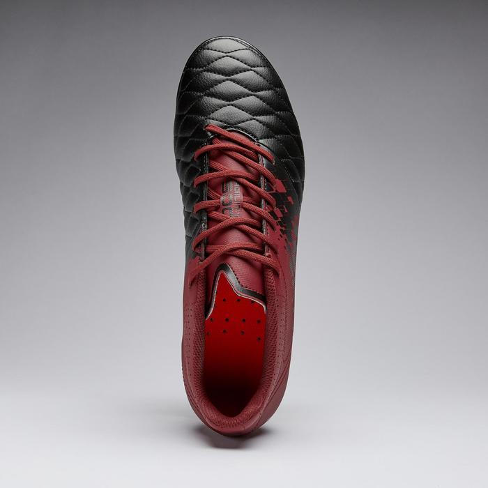 Chaussure de football adulte terrain gras Agility 500 SG noire & bordeaux