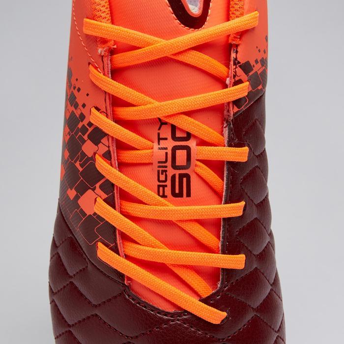 Fußballschuhe Nocken Agility 500 HG Erwachsene bordeaux/orange