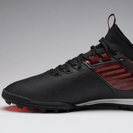 Chaussure de soccer adulte terrain dur Agilité 900 HG noire bordeaux