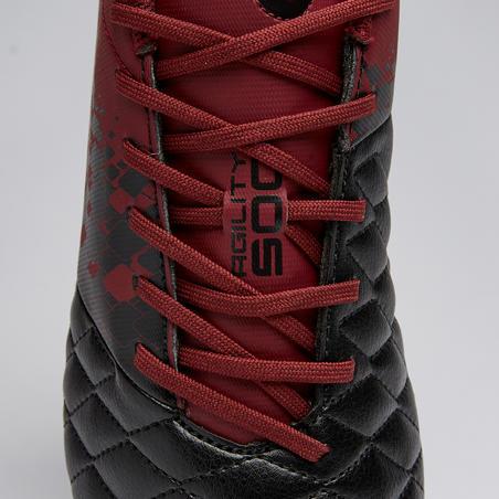 Agility 500 SG Adult Soft Ground Football Boots - Black/Burgundy