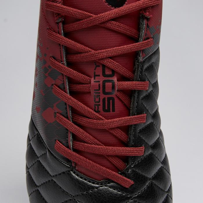 Voetbalschoenen voor volwassenen Agility 500 SG drassig terrein zwart/bordeaux