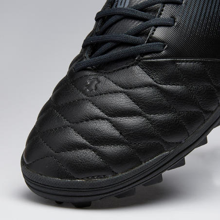 Adult Leather Hard Ground Football Boots Agility 540 - Black