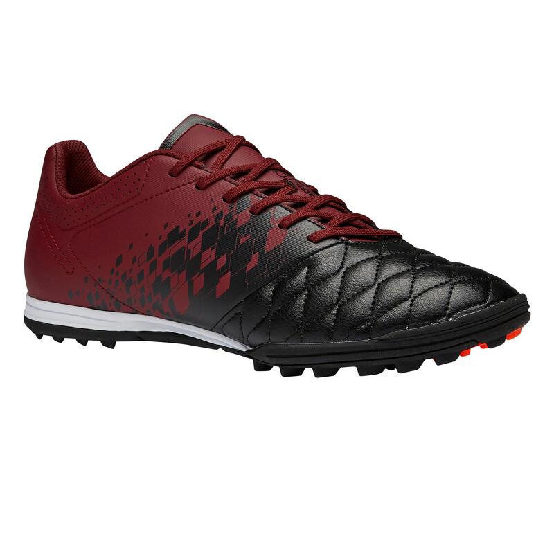 Chaussure de football adulte terrain dur Agility 500 TF noire bordeaux