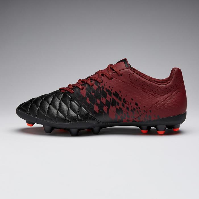 Voetbalschoenen voor volwassenen Agility 500 MG droog terrein zwart/bordeaux