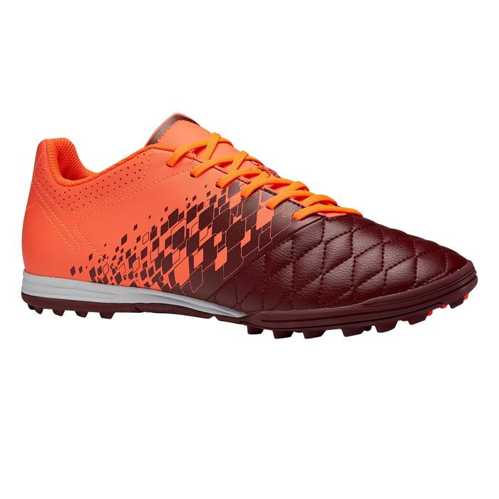 Chaussure de football adulte terrain dur Agility 500 HG bordeaux orange