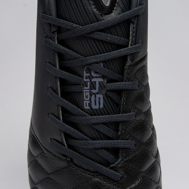 Adult Leather Hard Ground Football Boots Agility 540 - Black