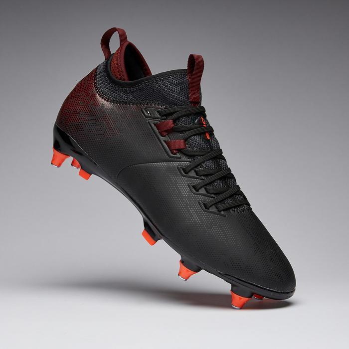 Chaussure de football adulte terrain gras Agility 900 MiD SG noire bordeaux