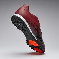 Chaussure de soccer adulte terrain dur Agilité 500 HG noire bordeaux