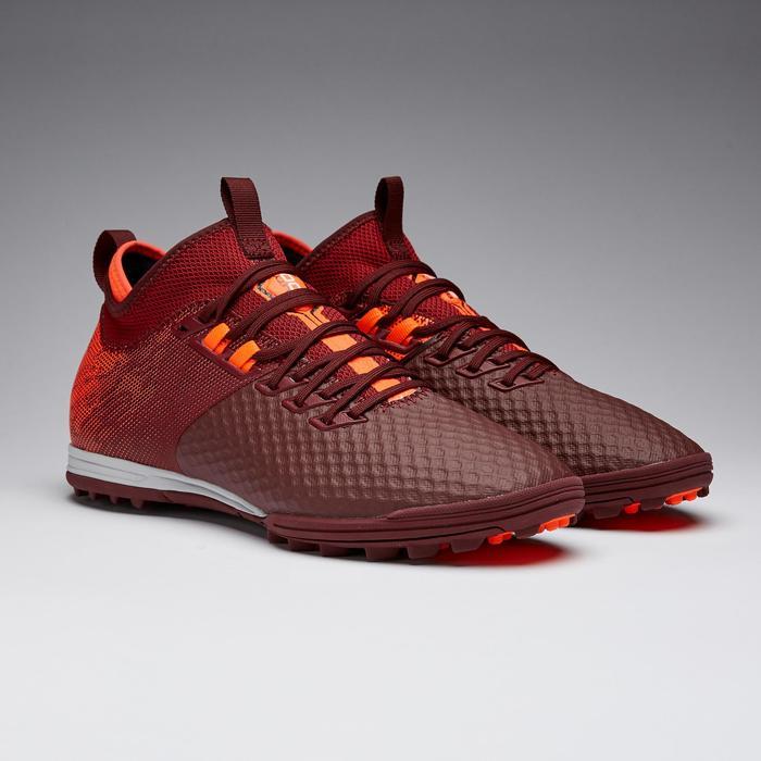 Voetbalschoenen Agility 900 Mesh Mid HG rood/oranje
