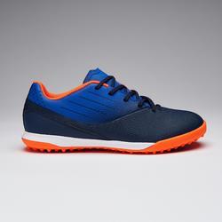 Voetbalschoenen voor kinderen Agility 500 hard terrein zwart/marineblauw