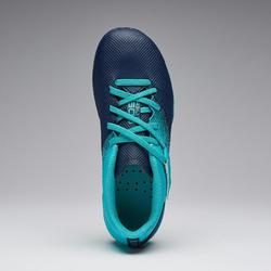 Fußballschuhe Nocken Agility 500 MG Klettverschluss Kinder marineblau