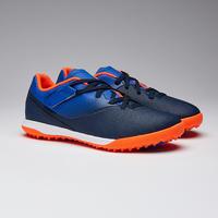 Chaussure soccer enfant terrains durs autoagrippante AGILITÉ 500 bleu et marine