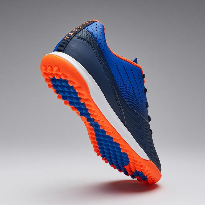Voetbalschoenen kind Agility 500 HG low zwart/marineblauw