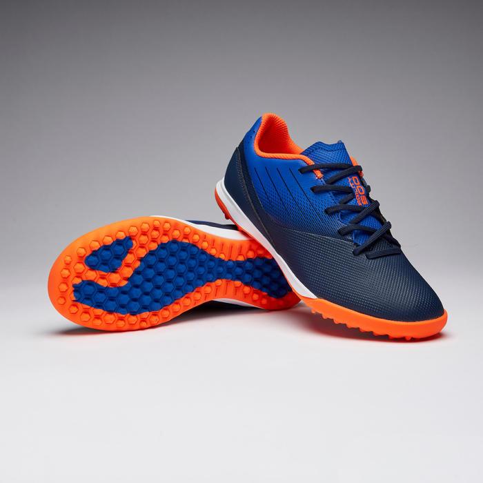 Chaussure de football enfant terrains durs AGILITY 500 marine et bleue