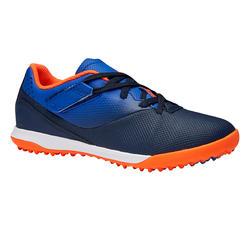 Voetbalschoenen voor kinderen Agility 500 hard terrein klittenband blauw/marine