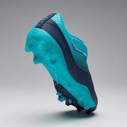 Chaussure de football enfant à scratch AGILITY 500 MG marine et turquoise