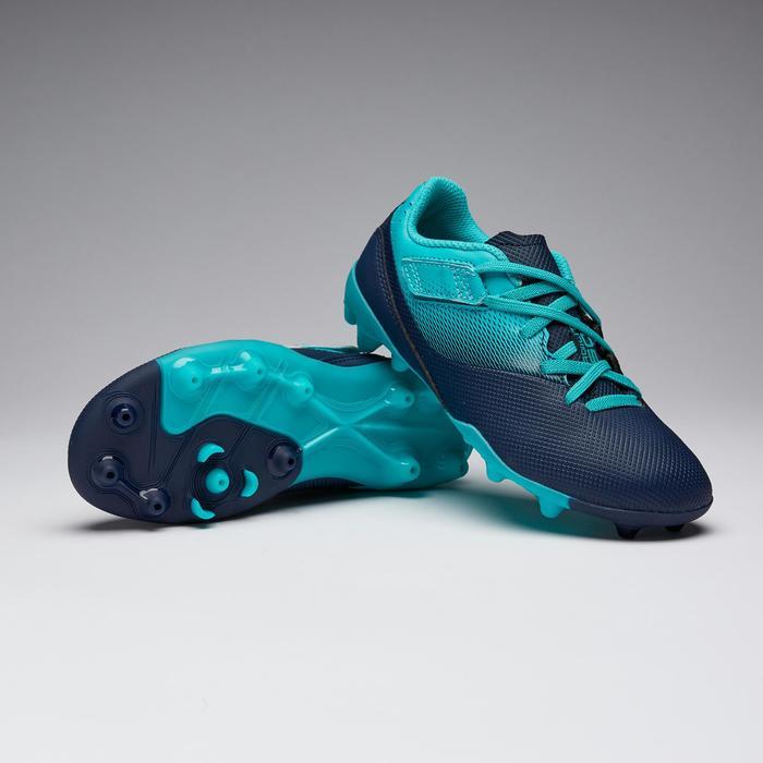 Voetbalschoenen voor kinderen Agility 500 MG marineblauw/turkoois