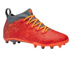 Voetbalschoenen kind Agility 900 MID FG rood/grijs