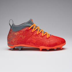 Voetbalschoenen kind Agility 900 MID FG rood/grijs