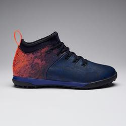 兒童款人造草高筒足球鞋AGILITY 900 HG - 藍橘配色