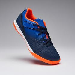 兒童款硬地魔鬼氈足球鞋Agility 500 HG-藍色/軍藍色