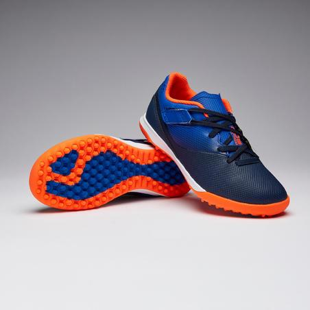 Agility 500 HG Hard Ground Velcro Soccer Shoes Blue/Navy - Kids