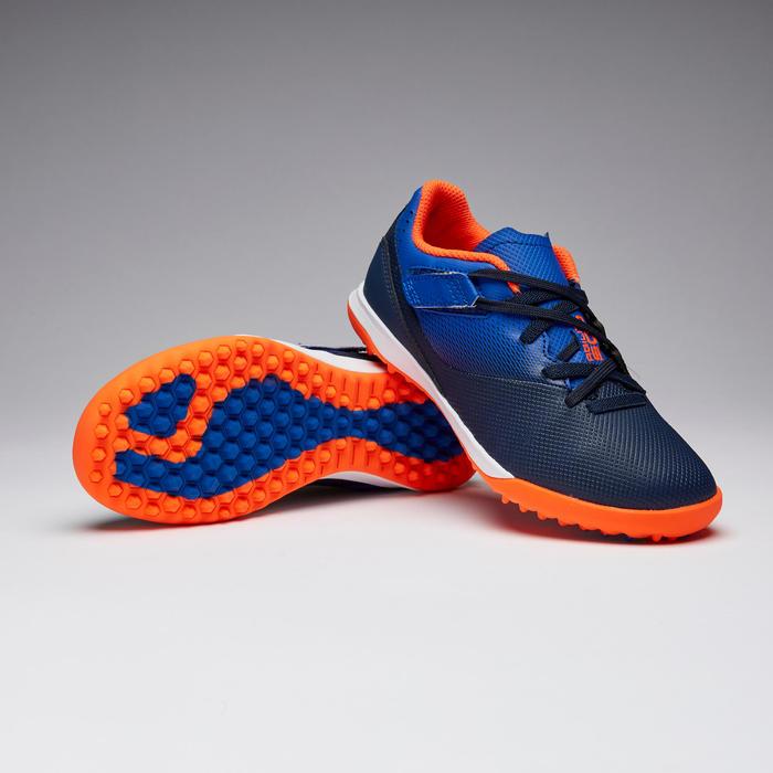 Agility 500 HG Kids' Hard Ground Rip-Tab Football Boots - Blue/Navy